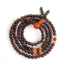 4mm--Garnet Gemstone Tibet Buddhist Prayer Beads Mala