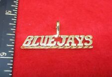 BLUE JAYS  SPORTS TEAM 14KT GOLD EP CHARM PENDANT
