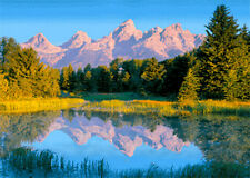 Teton Range, Wyoming - 3D Lenticular Post Card Greeting Card