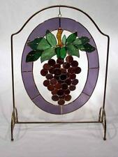 3-D Stained Glass Panel - Purple Grapes -SEE SIDE VIEWS