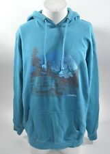 2014 MENS AIRBLASTER STAY WILD PULLOVER HOODIE $60 M teal blue USED