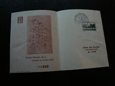 FRANCE - document 1er jour 8/3/1952 (journee du timbre) (cy22) french