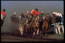 585035 Chuckwagon Race Alberta Canada A4 Photo Print
