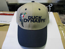 Duck Dynasty Beige and Navy Blue Hat A&E Licensed New with tag Adjustable Cap