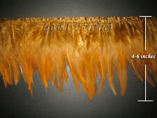 Hackle feather fringe of gold/tan colour 10 yards trim