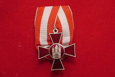 GERMAN EMPIRE WWI MEDAL / PARADE BAR  HANSEATENKREUZ - HAMBURG HANSEATIC CROSS
