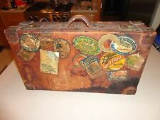Antique Vintage Leather Suitcase Luggage Travel Decals Stickers