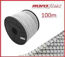 100m FUNE EXPANDER BIANCO/BLU GOMMA FUNE 8mm rimorchio rete elastiche PP