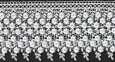 "5&1/2"" WHITE VENICE VENISE LACE FABRIC BRIDAL TRIM 3 YARDS SEWING EMBELLISHMENT"