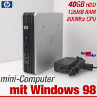 HP MINI-COMPUTER PC FÜR WINDOWS 98 OLD DOS GAMES 800MHZ 40GB HDD RS-232 PARALLEL
