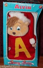 1990 Vintage Chipmunks & Chipettes Holiday Christmas ALVIN Stuffed Toy