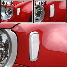 FIT FOR JEEP RENEGADE CHROME SIGNAL LIGHT SIDE LAMP TRIM CAR COVER BEZEL FRAME