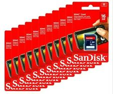 Wholesale lot SanDisk 16GB SD HC Flash Memory Card - 10 Pack for Digital Cameras