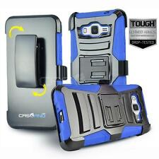 BLUE REFINED ARMOR COVER PHONE CASE & HOLSTER CLIP FOR SAMSUNG GALAXY EXPRESS 3