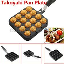 16 Holes Takoyaki Grill Pan Plate Kitchen Cooking Baking Mold Octopus Ball Maker