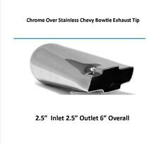 Brand New Chrome Plated Chevy Bow Tie Exhaust Tip