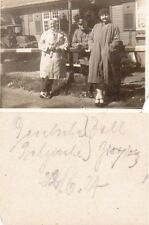 (No737) German after WW1 family photo SOLDIER UNIFORM CARS 1921