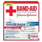 """Band-Aid First Aid Gauze Pads, Large, 4"""" x 4"""", 10ct (381371161270/228/XK)"""