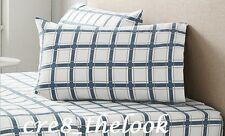 SHERIDAN CLAYTON KING SHEET SET IN OCEAN - 100% BRUSHED SOFT COTTON FLANNELETTE