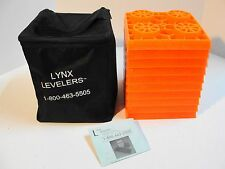 LYNX LEVELING BLOCKS FOR RV OR CAMPER SET OF 10 WITH BAG  Levelers
