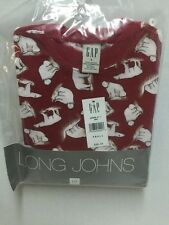 GAP Kids Long Johns PJs Polar Bears Boys Small Pajamas 2 Pieces New Old Stock
