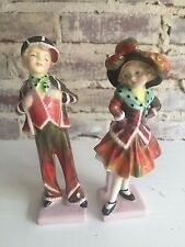 2 Royal Doulton Figurines Pearly Girl & Pearly Boy HN2036 & HN2035-Ret 1959 Mint
