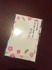 Japanese Washi Paper Adorable Cherry Blossom and Dango Card Set ! US Seller!