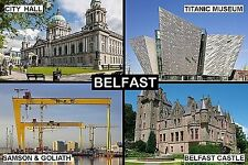SOUVENIR FRIDGE MAGNET of BELFAST NORTHERN IRELAND
