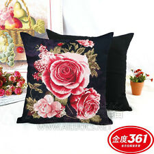 AL35220 Fragrant Flowers 3D Printed Cross Stitch Pillow Case