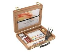 WINSOR & NEWTON artisti professionisti dell' acqua colore bambù Box Set-Half Pan
