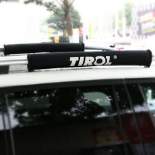 TIROL Oxford Pair of Car Roof Rack Pads Inflatable Padded Crossbar Roof Cover