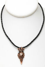 KIRKS FOLLY NEVERMORE RAVEN KING CORD NECKLACE   coppertone