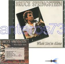 "BRUCE SPRINGSTEEN ""WHEN YOU'RE ALONE"" RARE CD LIVE ITALY ONLY"