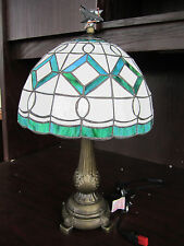 San Jose SHARKS Tiffany Stained Glass Table Lamp NEW IN BOX NHL Colors & Logo