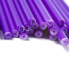 x500 150mm x 4.5 Purple Coloured Plastic Lollipop Lolly Cake Pop Sticks Crafts