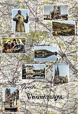 BR26887 Route dy Champagne map cartes geographiques France