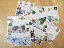 TINTIN - 18 EDUCATONAL CARDS - 18 CARTES DUCATIVES PC A
