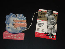 Vintage Saucy Walker Wrist Tag & Ideal Curlers ORIGINAL and Very Hard to FIND!