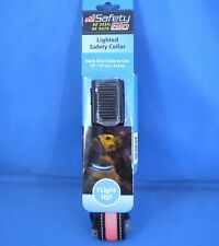"""Safety Glo Ligthed Dog Collar - Small - Orange - 10"""" to 14"""" - Rechargeable NEW"""