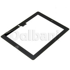 Black Front Panel Touch Screen Glass Digitizer+ Home Button Assembly for iPad 3