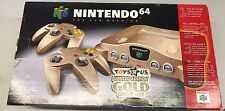 Nintendo 64 Toys R US Limited Edition Gold Console RARE COMPLETE (NEAR MINT)