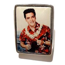 ENAMEL ELVIS PRESLEY IN HAWAII PILL BOX 925 SOLID STERLING SILVER