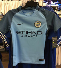 2016-17 Manchester City Soccer Youth Jersey Short Sleeves X-Small Premier League