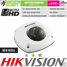 HIKVISION 4mm DS-2CD2542FWD-IWS 4MP 1080P Wireless Wifi Mic Audio Mini IP Camera