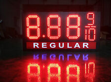 "LED Gas Price Sign 12"" X 40"" Red or Green 