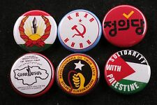 World Communist Party Button Badge Lot Iran Palestine East Timor Armenia Korea 6