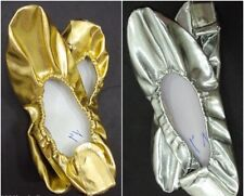 2 pair belly dance dancing professional shoes slipper gold / silver wholesale