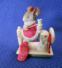 THE HEART OF CHRISTMAS ~ MOUSE SEWING MACHINE ORNAMENT  ~ #4052791 ~ SWEET!