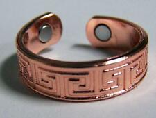 SOLID COPPER RING W MAGNETS STYLE JL584 AZTEC jewelry magnetic pain new unisex