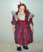 """Vintage Lenci Type Face Doll 10"""" Unmarked"""
